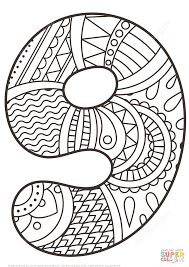 number 9 coloring pages funycoloring
