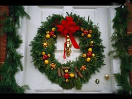 Red Ribbon Door Decorating Ideas Decoration Contemporary Accessories For Christmas Front Porch