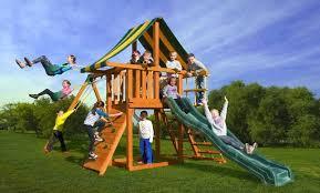 dreamscape a outdoor swing set best in backyards