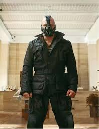 bane mask spirit halloween the dark knight rises bane geniune cow hide black real leather