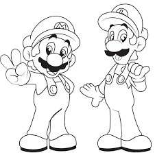 mario brothers colouring pages coloring page