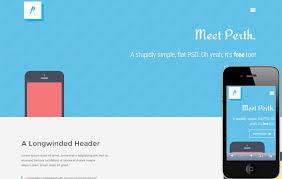 responsive design template perth flat design responsive web template and mobile website template