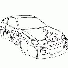 dessin en couleurs à imprimer véhicules voiture numéro 169492