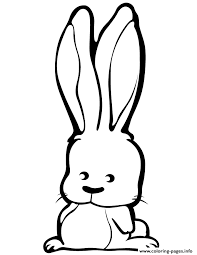cute cartoon rabbit coloring pages printable