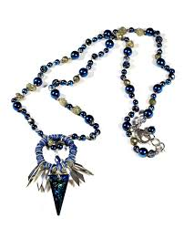 long blue necklace images Long blue swarovski crystal and hematite necklace caterina wills jpg