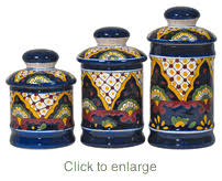talavera canister set talavera pottery from mexico pinterest