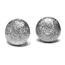 white gold earrings studs frosted diamond cut 14ct white gold flat stud earrings e2968