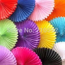 cheap wedding fans online cheap wholesale big 35cm tissue paper fan tissue paper