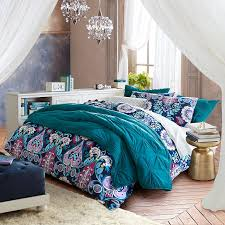 Duvet Cover Teal Jewel Damask Flannel Duvet Cover Sham Pbteen
