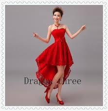 wedding dress pendek aliexpress buy panjang bola merah gaun pendek 2015 sayang