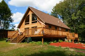 log cabins kintner modular homes inc nepa pa chalet with wrap