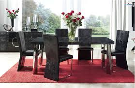 dining room artistic black dining room chair with square glass