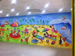 play wall painting cartoon painting kids room painting sea