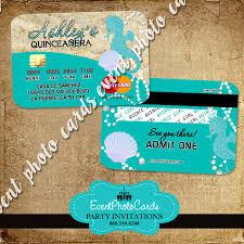 Beach Wedding Invitation Cards Sea Beach Credit Card Sweet 15th Invitations Quinceanera