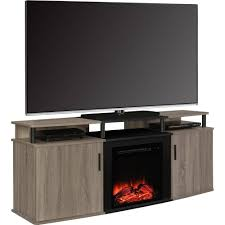 60 inch tv stand with electric fireplace ameriwood home carson electric fireplace tv console for tvs up to