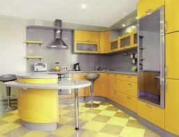 45 cuisines de rêve photos cuisine moderne jaune et gris
