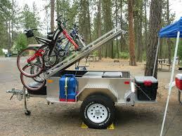 offroad trailer off road trailer with bike rack trailer pinterest camping