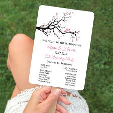 Wedding Program Hand Fans Aliexpress Com Buy Personalized Menu Cards Wedding Program Card