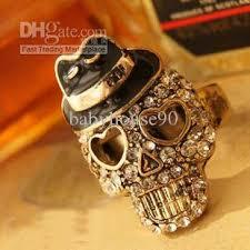 antique skull rings images 2018 vintage rings hat diamond skull rings hot sale antique gold jpg