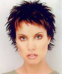 hairstyle for50 with a fringe short spiky haircuts for women outspoken forthright hairstyle
