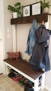 Front Hall Bench by Best 25 Coat Rack Bench Ideas On Pinterest Bench Coats Diy