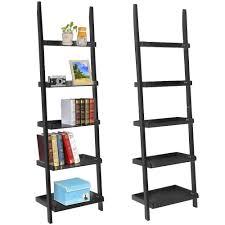 Leaning Ladder Bookshelves by Yaheetech 5 Tier 70 U0027 U0027 Wood Ladder Shelves Display Shelves Book