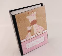 cheap photo album 4x6 girl photo albm 490 pink giraffe printed burlap personalized baby