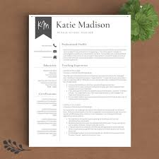 Teaching Resume Templates Teacher Resume Template The Katie Madison U2013 Landed Design Solutions