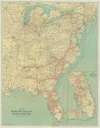 Map Of State Of Florida by Florida Memory Seaboad Air Line Railroad Map 1928