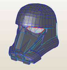 star wars death trooper helmet template for pepakura