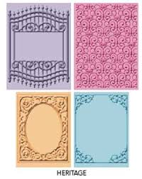 cuttlebug cricut companions heritage embossing folder 4pk buy now
