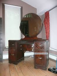 Mahogany Furniture Concept Vintage Vanity Dressing Table Old Hollywood Glamour 1900 1950