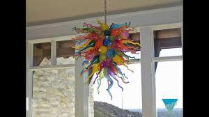 Art Glass Chandeliers Multicolor Glass Art Chandeliers Lighting Fixtures Youtube