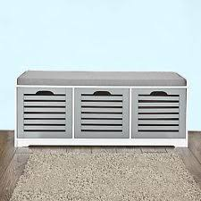 Shoe Bench Uk Sobuy Storage Bench With Drawers Shoe Cabinet With Seat Cushion