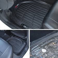 lexus brand all weather mats black deep dish all weather hd rubber mats package 5pc floor