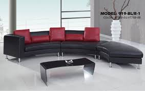 Curved Sofa Sectional Modern S Curved Sectional Sofa With Contrasting Modern Pillows 919 Sec