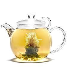 Jasmine Tea Flowers - teapot flowering tea rising flower newby teas