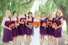 purple and orange wedding dress 20 orange and purple wedding ideas everafterguide