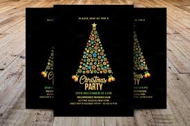 christmas party invitations template templates creative market