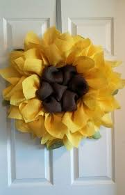 burlap sunflower wreath best 25 sunflower burlap wreaths ideas on fall mesh