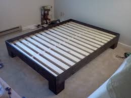 Bed Frame With Storage Plans Ana White Chunky Leg Bed Frame Slightly Taller Diy Projects