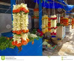Flower Shops by Flower Shops Outside A Hindu Temple In Mumbai India Editorial