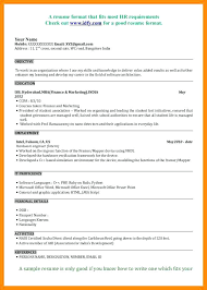 Government Sample Resume Sample Resume Format In Canada Government Resume Format Sample
