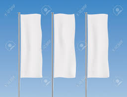 Hanging American Flag Vertically White Banner Flag Vector Templates Row Of Vertical Flags On