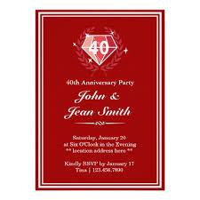 40th wedding anniversary party ideas 40th wedding anniversary invitations reduxsquad
