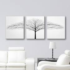tree of life home decor tree of life wall art black and white art canvas art set 3