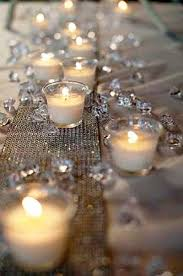 candle runners 1920s party ideas gold glitter diamond and 1920s party