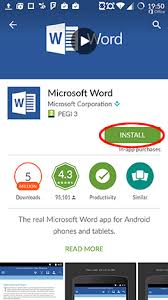 word app for android how to install microsoft office apps for android digital citizen