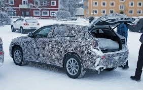 bmw x2 spied up close in snowy sweden