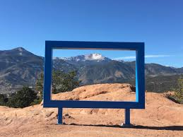 large blue frame at garden of the gods sparks outcry krcc